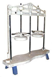 metal cheese press from Department of Food Science